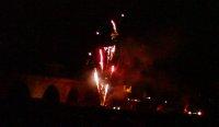 Feuerwerk an der Steinernen Brücke in Regensburg